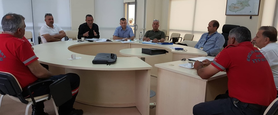 Air Traffic Control Officials and Fire Fighting Officials held a meeting today in the Air...
