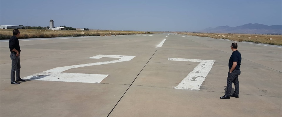 Air Traffic Control Team Chiefs inspected the Geçitkale Airport in place.
