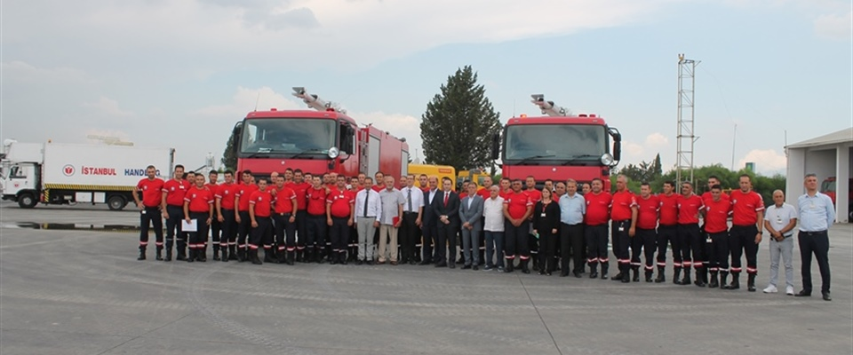 THE NEW ERCAN AIRPORT FIREFIGHTERS RECEIVED THEIR DIPLOMAS
